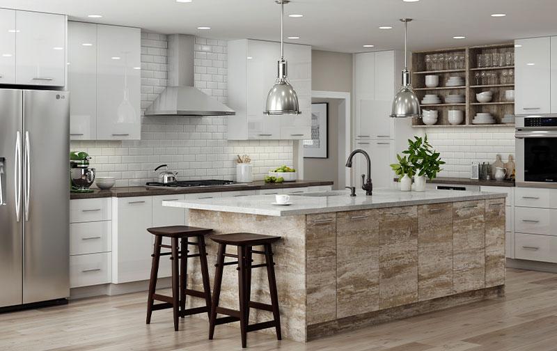 Metro Assembled Semi Custom Kitchen And Bath Cabinets The Flooring Zone Llc